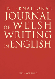 International Journal of Welsh Writing in English, Vol. 3